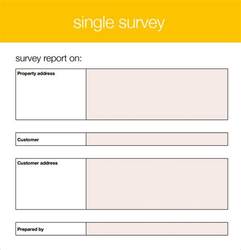 7 Blank Survey Sles Sle Templates Free Printable Survey Template