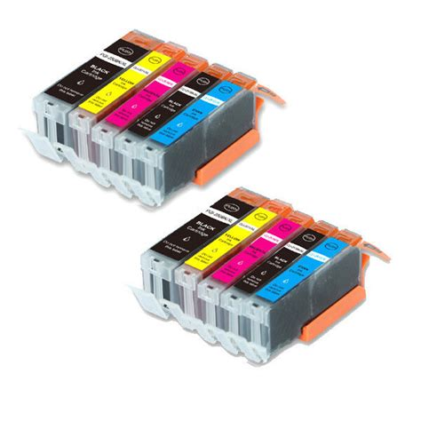 10pk ink cartridges for canon pgi 250 cli 251 bk c m y pgbk mg5620 mx922 mx722 ebay