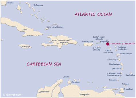 st martin map map of the caribbean archipelago