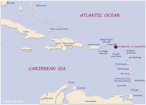 st caribbean map map of the caribbean islands st martin island caribbeans