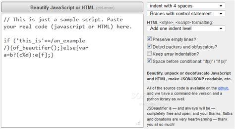 format html code beautifier js beautifier download