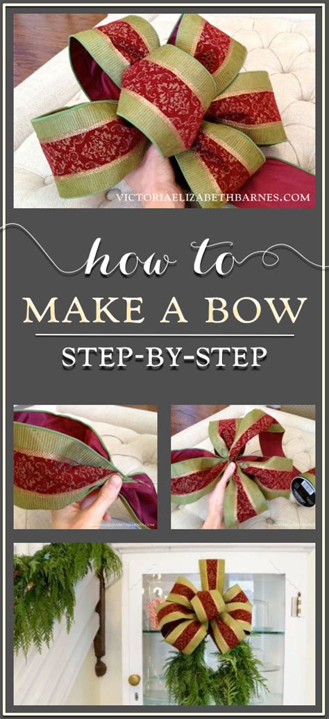 how to make a bow a step by step tutorial holiday