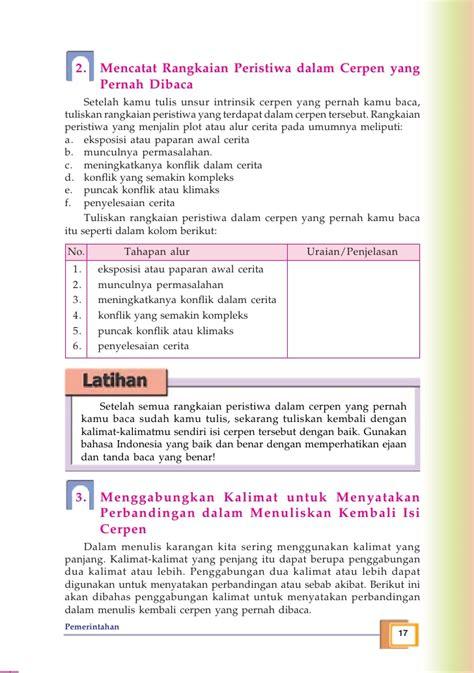 membuat karangan cerpen kelas ix smp bahasa indonesia tri retno