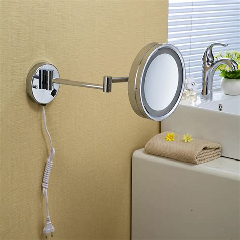 High Quality Bathroom Mirrors High Quality 10 Brass One Side Bathroom Wall Mounted Led Cosmetic Makeup Mirror With