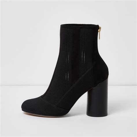 black knitted ankle boots boots shoes boots