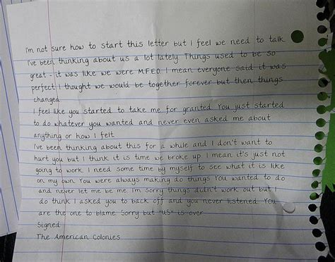 dramatic reading of a breakup letter words college breakup letter viral breakup letter leads to