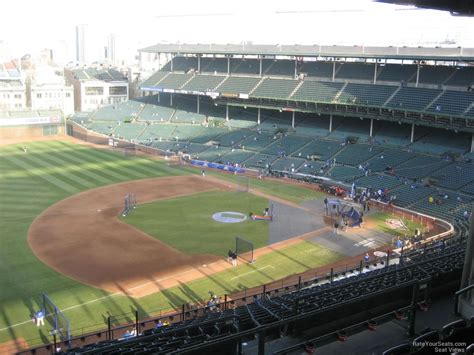 section 509 a 1 wrigley field section 509 chicago cubs rateyourseats com