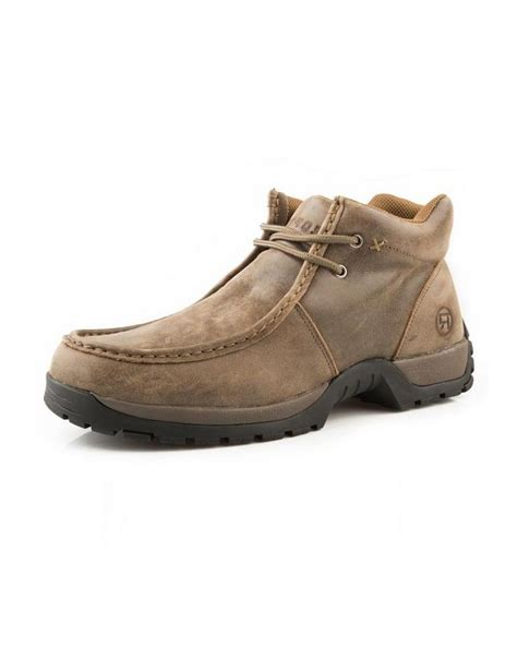 roper western boots mens chukka lace up brown 09 020 1654