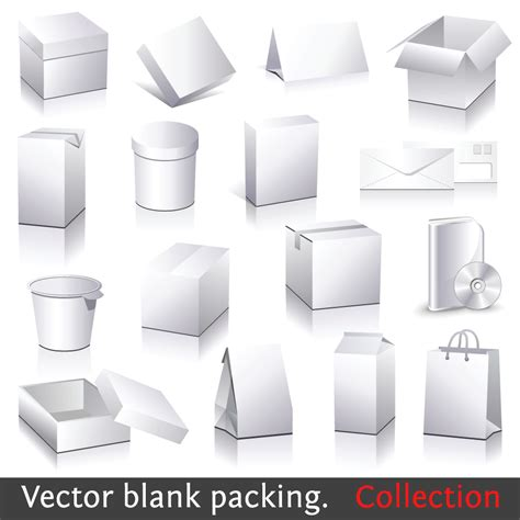packaging template vector free 18 free vector outline box images burger box template