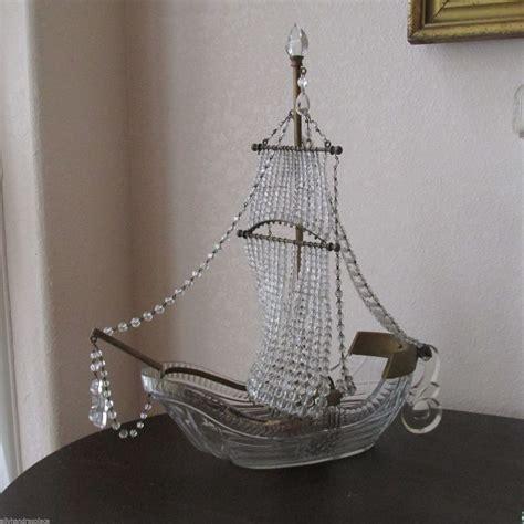 Boat Chandelier Antique Figural L Beaded Ship Galleon Boat Table Chandelier Boats