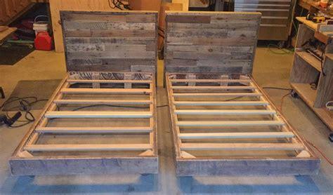 twin bed frames  pallet headboards diy bed frame