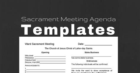 lds ward mission plan template sacrament meeting agenda templates for bishoprics