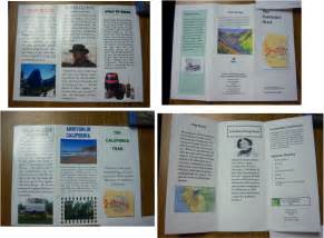 brochure templates for school project travel brochure project exle