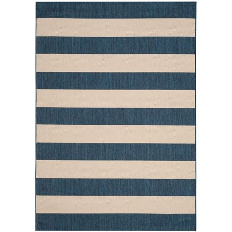 5 X 7 Outdoor Rugs Safavieh Courtyard Navy Beige 5 Ft X 7 Ft Indoor Outdoor Area Rug Cyb6600 268 5 The Home Depot