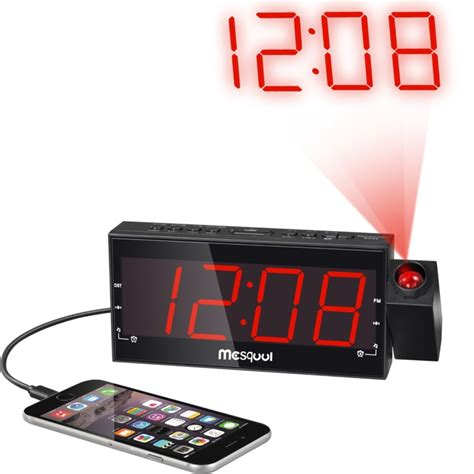 led dimmable projection dual alarm clock amfm radio