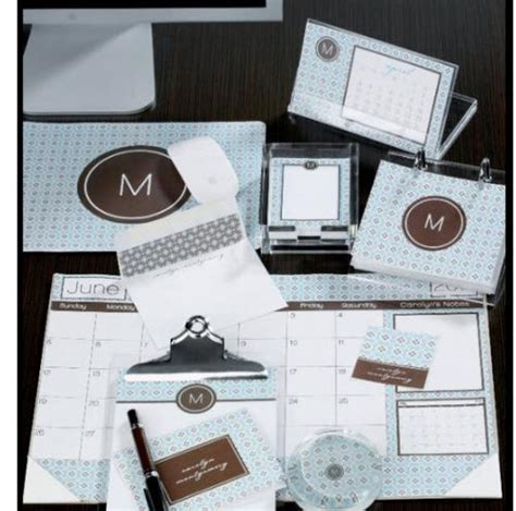 monogrammed desk accessories dress your desk with monogrammed accessories