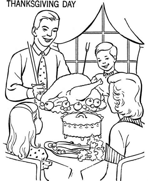 Coloring Page Of Thanksgiving Dinner | thanksgiving dinner coloring pages az coloring pages