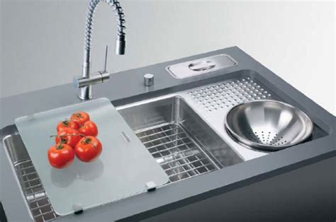 Stainless Steel Dish Cabinet Innovative Kitchen Sinks Interior Design Inspiration