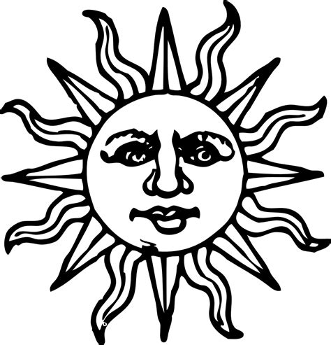 outline tribal tattoo sun images designs