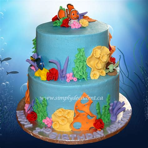 finding dory finding nemo theme birthday cake cakecentral