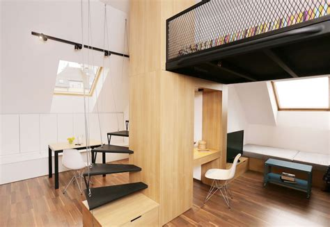 Simple Floor Plan Small Apartment With A Loft Bedroom And Bright Open Plan