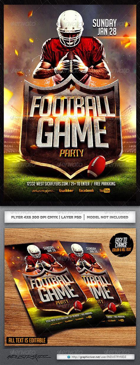 Football Flyer Template By Industrykidz Graphicriver Football Flyer Template