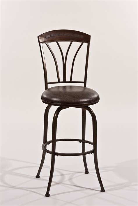 pewter bar stools hillsdale marano swivel bar stool speckled bronze pewter