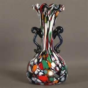 Murano Millefiori Vase Murano Glass Vase Millefiori Fratelli Toso Italy 1940