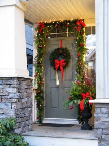 christmas entrance decoration decorating front door entrance way front door entrance