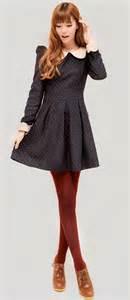 Dress burgundy tights peterpan collar dress diff shoes burgundy