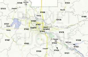 zip codes map planet eugene oregon