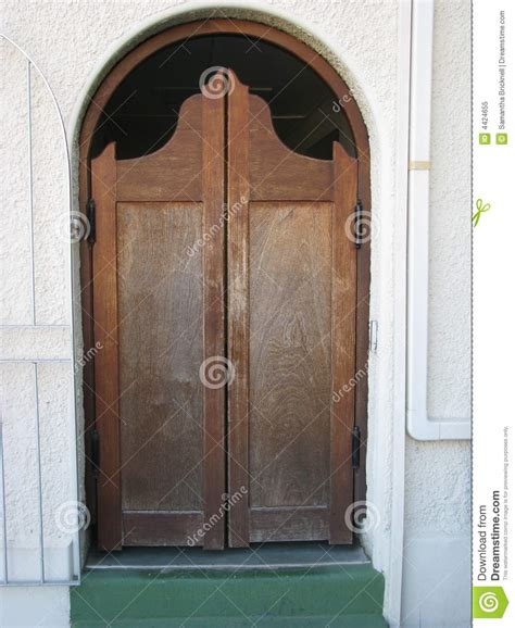 wooden swing doors old fashioned wooden swing door stock image image of