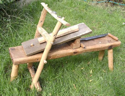 shaving horse bench green woodworking making a shave horse