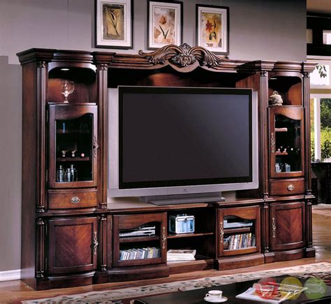 entertainment center wall unit pc traditional wall unit large tv entertainment center ken 1004cx