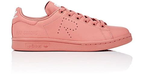 adidas by raf simons stan smith low top sneakers in pink lyst