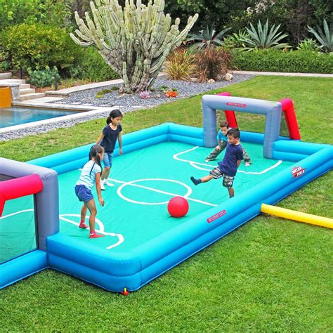 blow up bounce house inflatable soccer field total survival