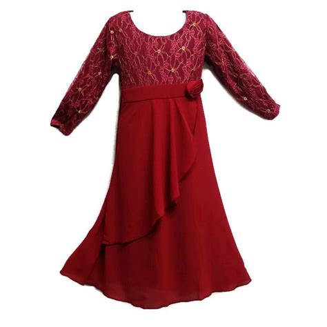 Baju Kurung Jubah Moden jubah moden baju kurung for ages 3y to 8y maroon gold 11street malaysia dresses