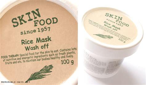 The Skinfood Rice Mask Wash review skinfood rice mask wash memorable days korean european
