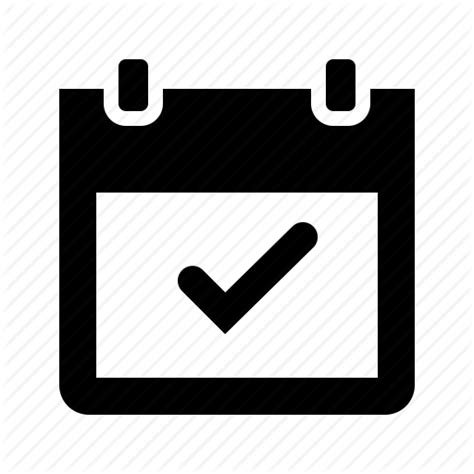 calendar checkmark date event icon