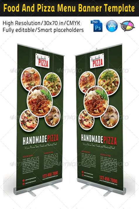 Food Menu Templates Graphicriver Food And Pizza Menu Banner Template 03 Graphicflux Food Banner Design Template Free