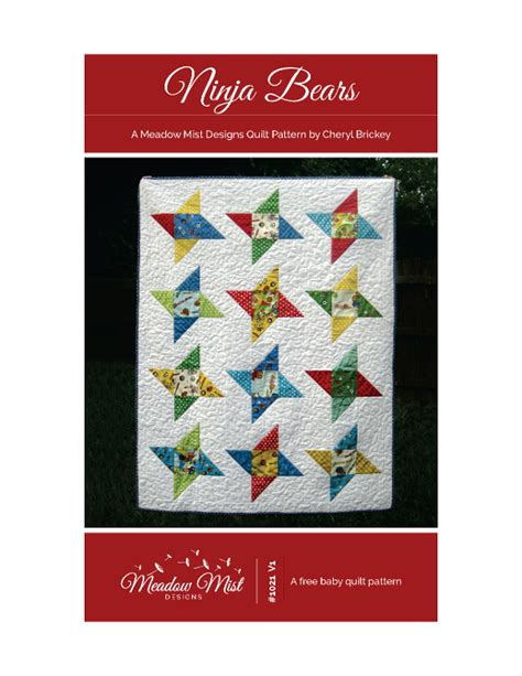 ninja quilt pattern ninja bears by cherylbrickey craftsy