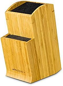 kapoosh kitchen caddy universal slotless bamboo knife amazon com universal knife block stand holder without