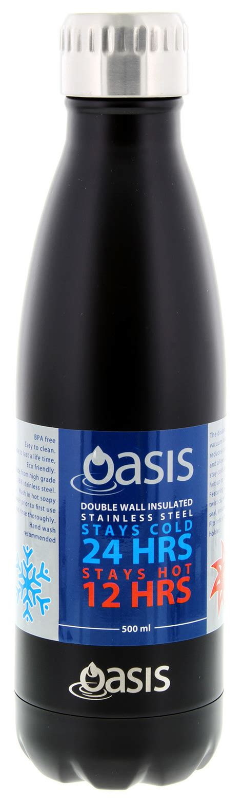 Oasis Insulated Stainless Steelter Bottle Matte Black