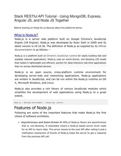 node js tutorial ppt ppt node js angularjs and express js tutorial