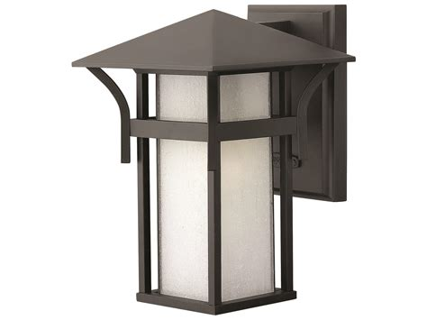 hinkley lighting harbor satin black incandescent outdoor
