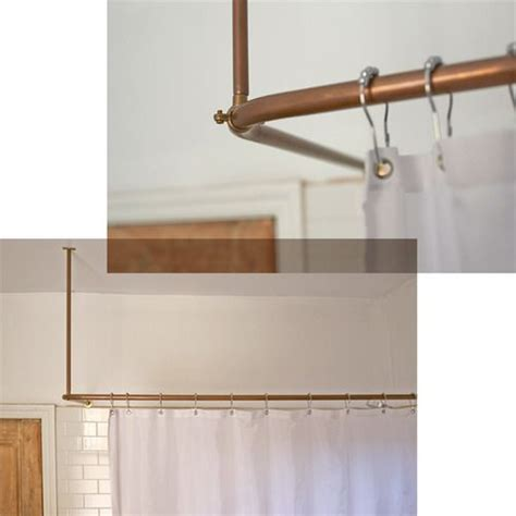 Bathroom Shower Curtain Rails Copper Pipes Shower Curtain Rail Www Thisisladyland Bathroom Reno Posts