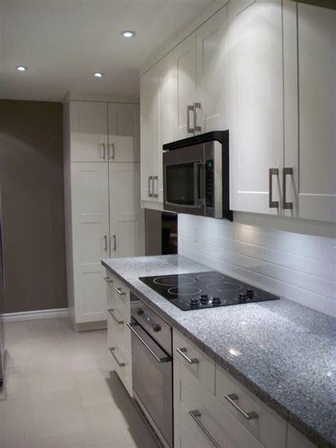 White Thermofoil Kitchen Cabinet Doors by Ikea Kitchen Grimslov White