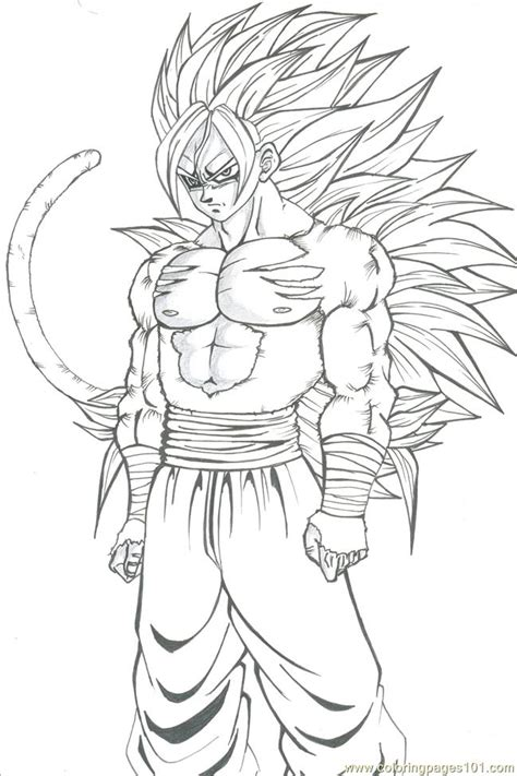 Coloring Page Goku by 1 Goku Coloring Pages