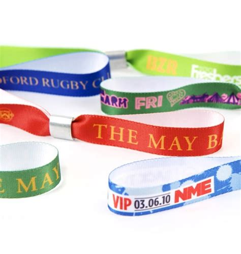 Gelang Handmade A5 colour printed fabric wristbands global promotional solutions ltd
