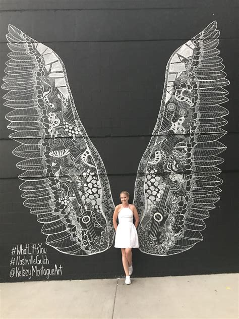 angel wings mural   gulch  nashville tennessee